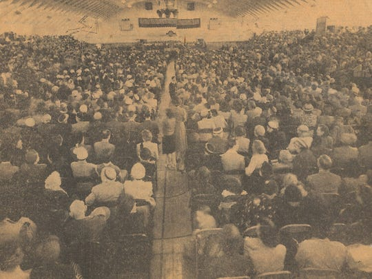 Rose Field House on the campus of Hardin-Simmons University was packed to capacity when the Rev. Billy Graham came to Abilene in 1951. The beloved evangelist died Wednesday in North Carolina at 99.