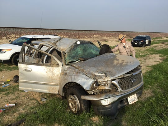 Six children were injured in a solo rollover crash that ejected two of them Tuesday on Highway 43 at Avenue 16 just north of County Line Road.