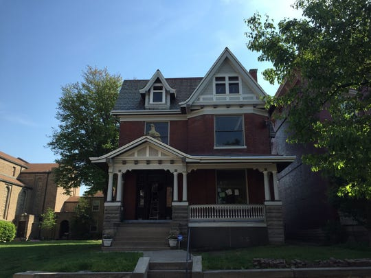 Stained glass windows were stolen out of this home