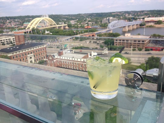 A Southwest cocktail from Top of the Park, Downtown.