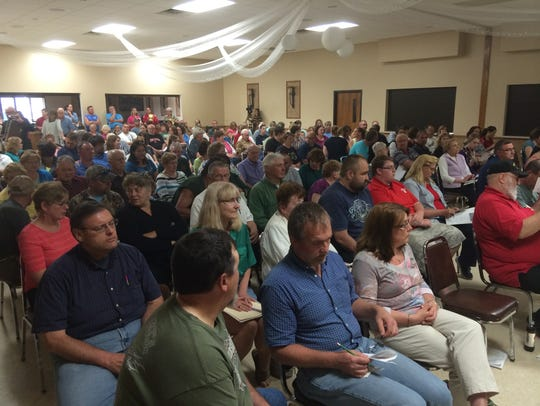 Residents packed the Brownsville Community Club Wednesday