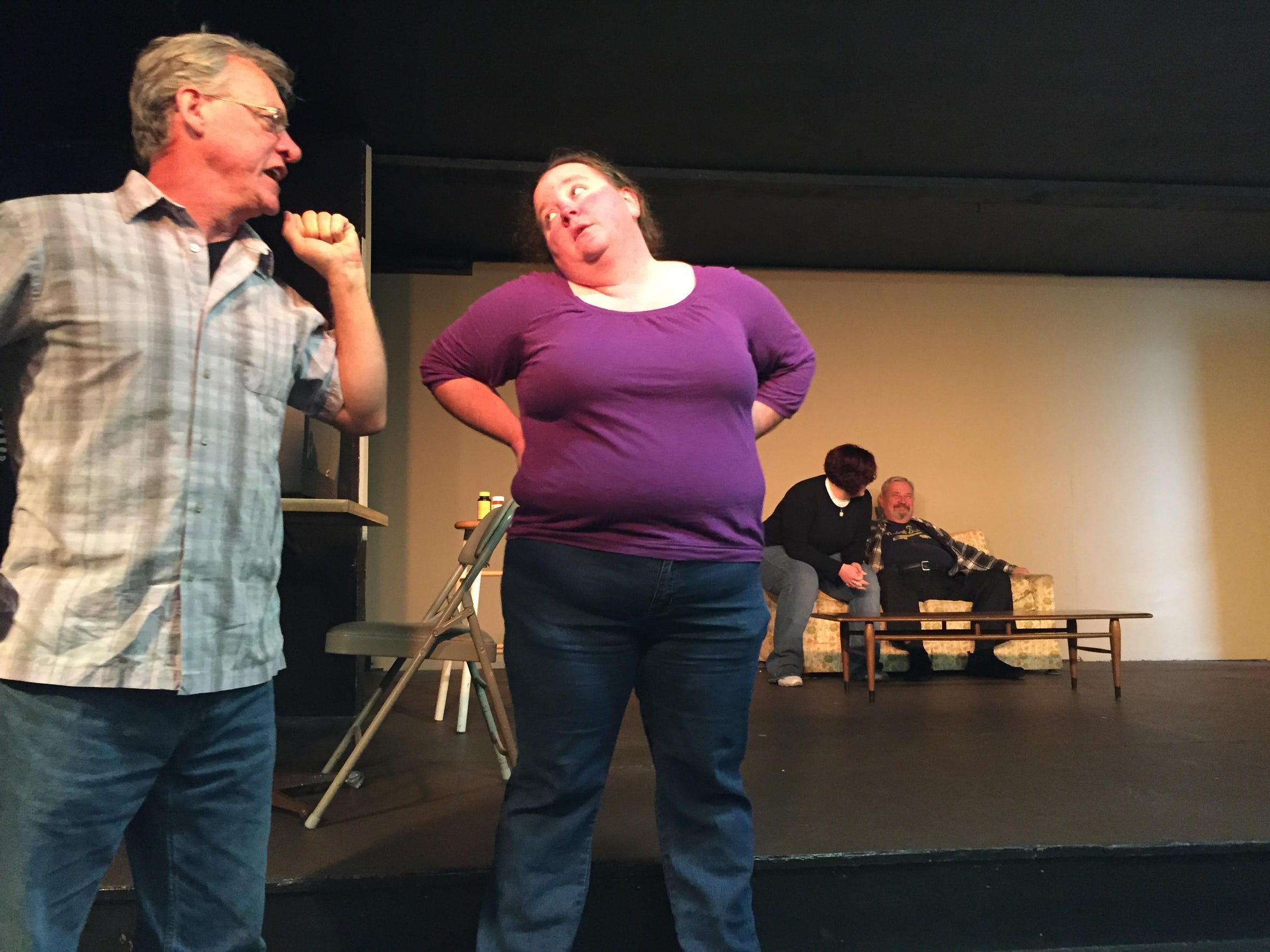 Last fall, Mansfield Playhouse performers acted out