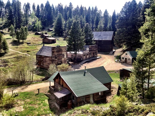 Garnet Ghost Town was once home to about 1,000 people.
