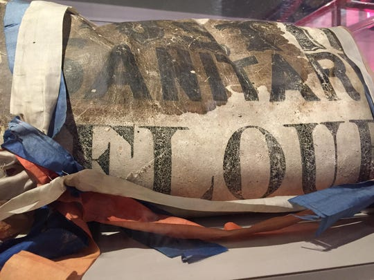 Ruel, or Reuel, Gridley's 50-pound flour sack in the Nevada Historical Society museum.
