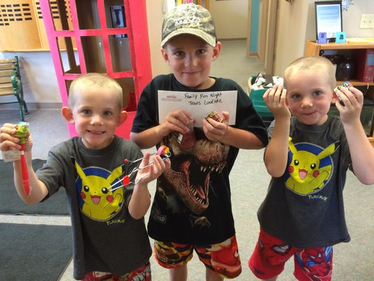 Henry, Oliver and Wyatt Luedtke were the lucky winners