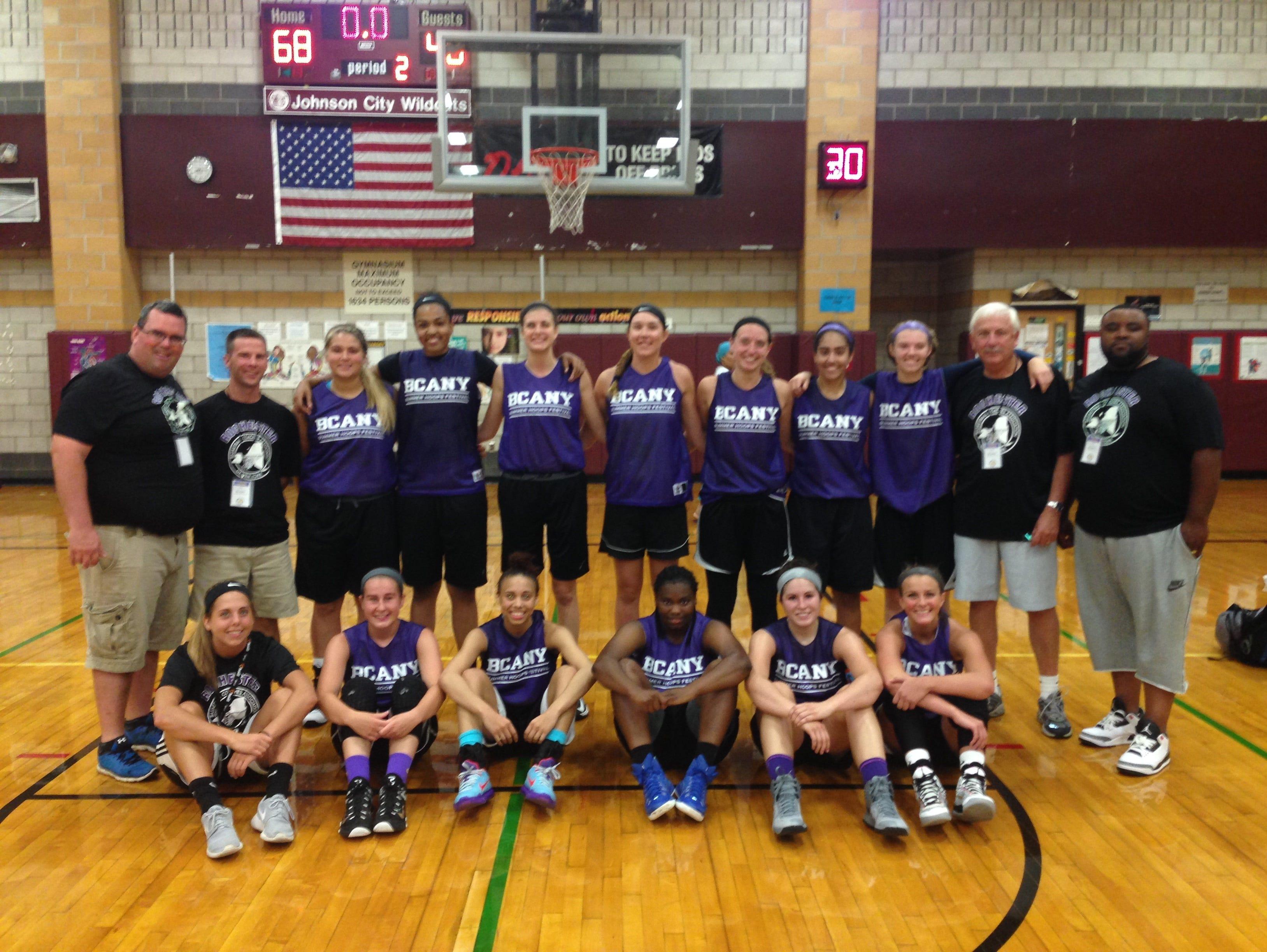 2015 Rochester girls basketball team, silver-medalist at Basketball Coaches Association of New York Summer Hoops Festival in Johnson City.