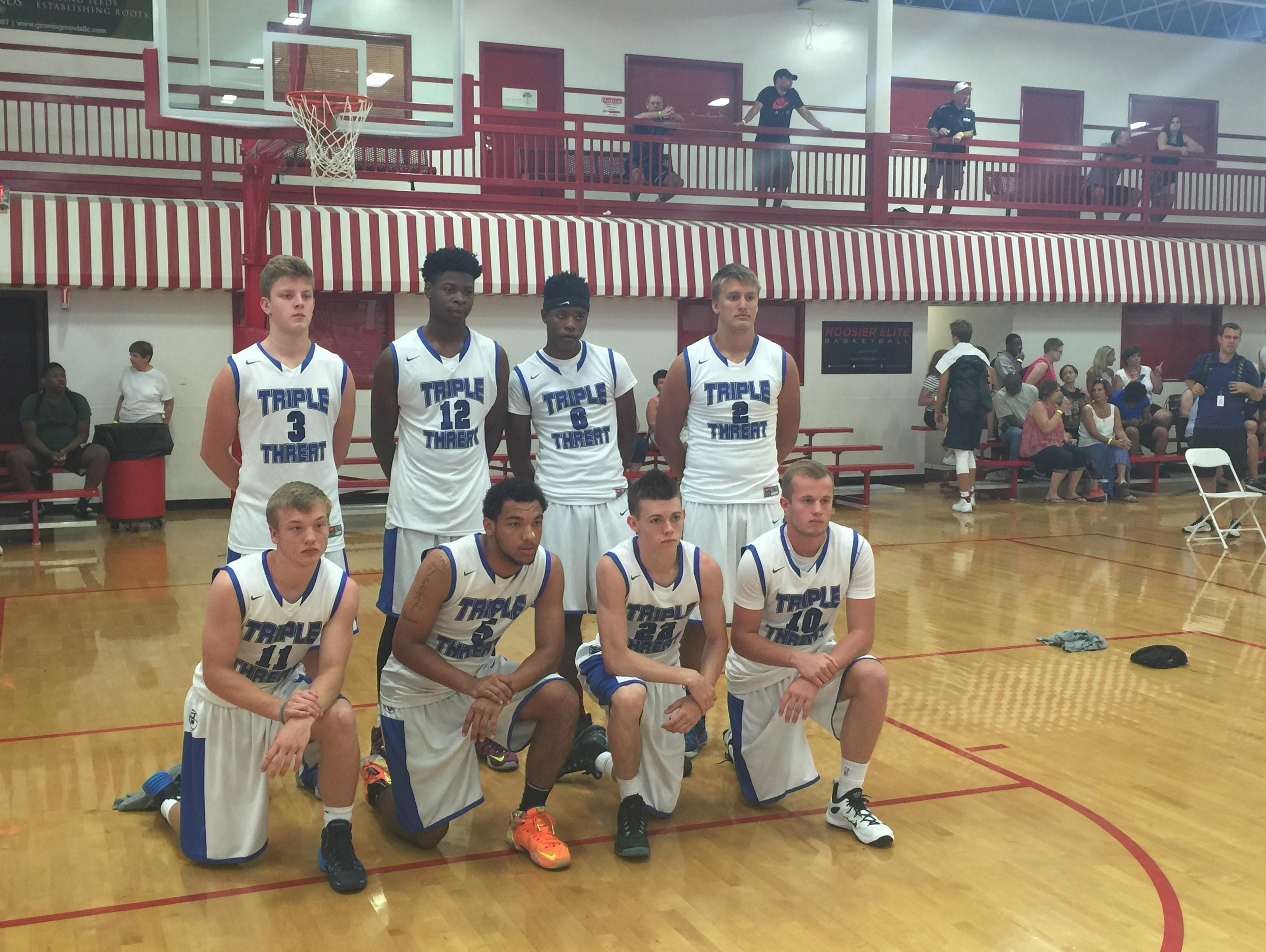 The 17U Michigan Triple Threat AAU team consists of nine Lansing and Greater Lansing-area basketball players.