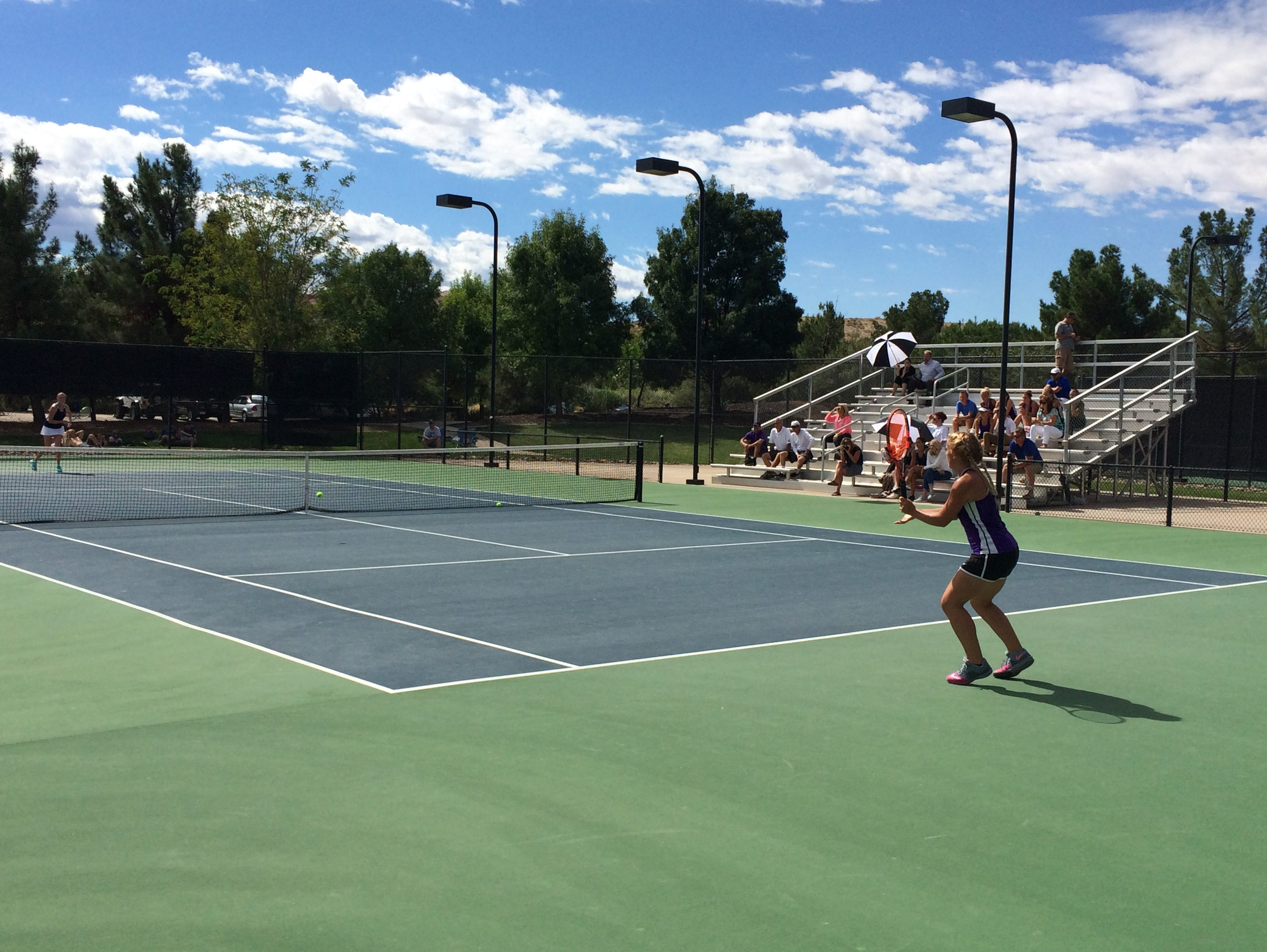 Desert Hills won the Region 9 title at Tonaquint Park on Saturday after sweeping first and second doubles.
