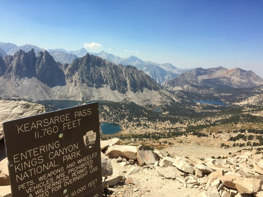 If you're hiking into the High Sierra from Onion Valley you'll probably cross Kearsarge Pass.
