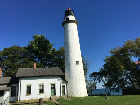 Pointe aux Barques lighthouse in Port Hope, Michigan.