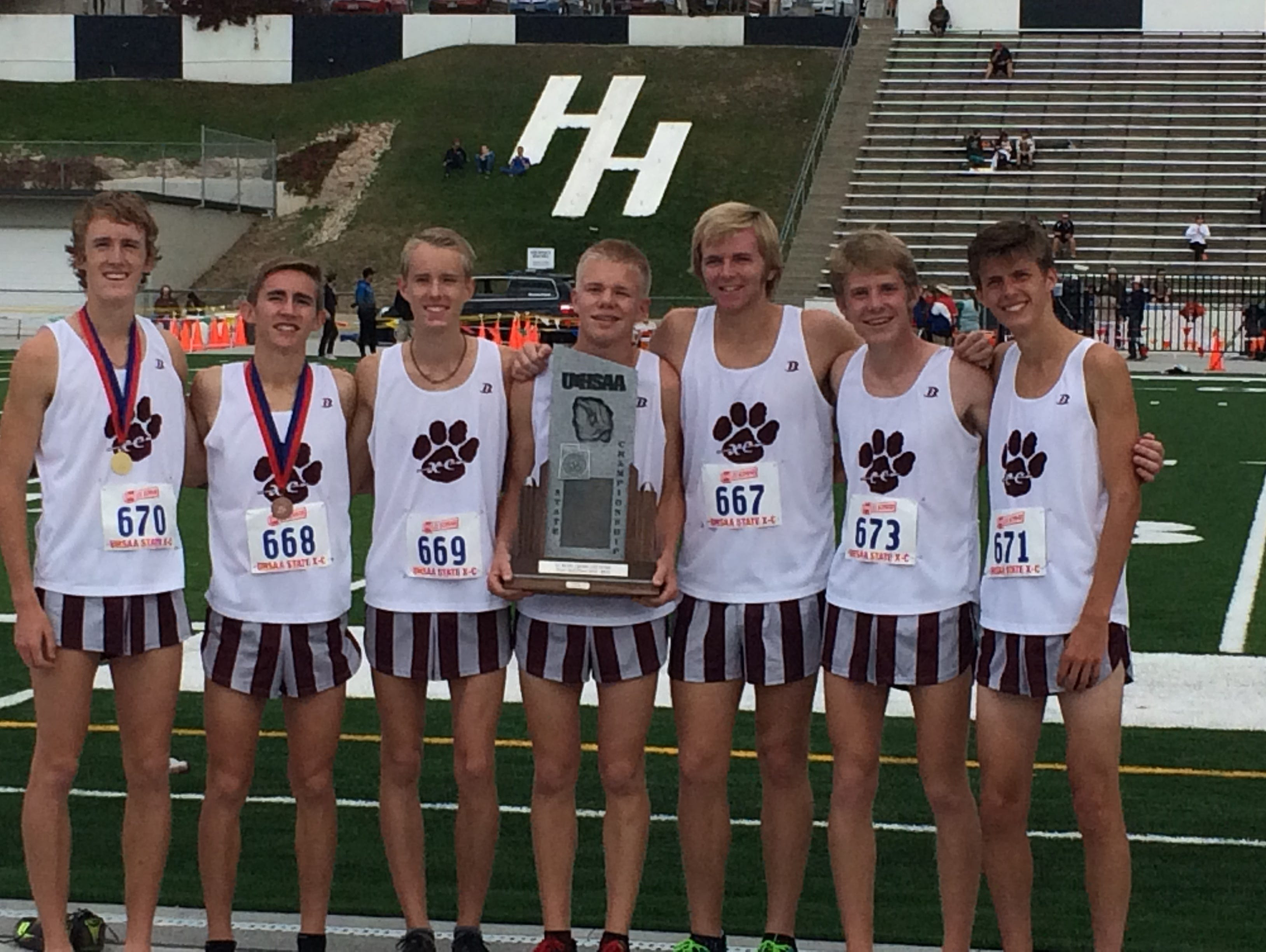 Pine View took second place during the 3A state cross country meet at Sugar House Park on Wednesday.