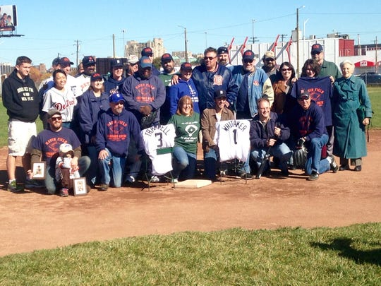 The Navin Field grounds crew honored retired Detroit