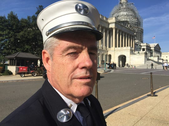 Lt. Dennis Stanford. 62, of Cortland Manor, works at Engine 44 on the Upper East Side.  Stanford was in Washington on Nov. 17, 2015 to lobby for permanent renewal of the James Zadroga 9/11 Health and Compensation  Act.