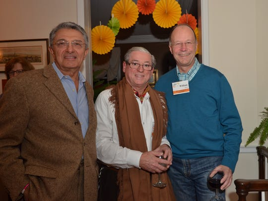 At the Fiesta Fundraiser held on Nov. 14 in Bedminster, from left to right:  Dr. Farhad Rafizadeh of Morristown, Dr. Rolando Rolandelli of Bedminster, and Dr. William Diehl of Morristown. The event raised funding for the UHMLA, a non-profit organization supporting the work of medical teams conducting missionary visits to Latin America spearheaded by Dr. Rolandelli.