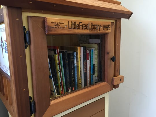 A Little Free Library outside Macomb Tutoring in Sterling Heights. It was installed in 2015.
