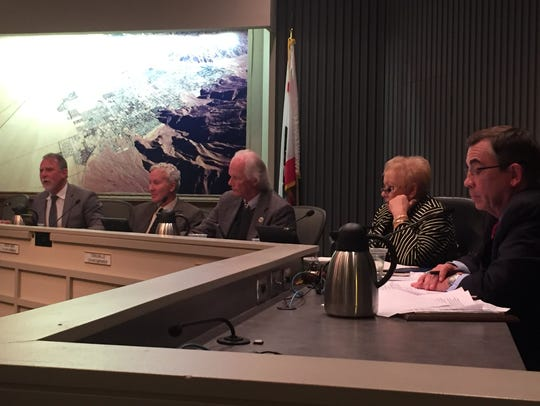 The current Palm Springs City Council: J.R. Roberts,