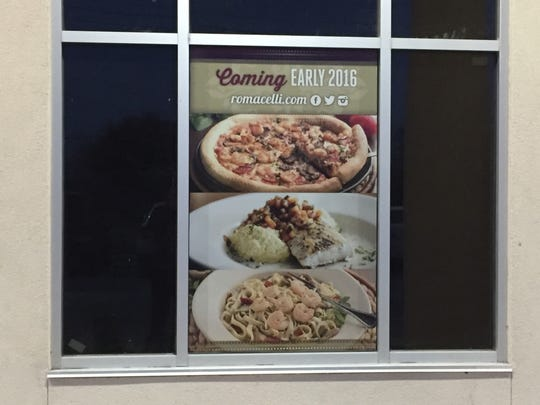 Romacelli is set to open in 2016 in north Lafayette.