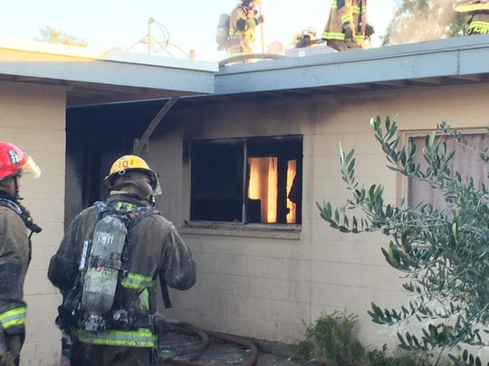 An investigation in underway for a first-alarm fire