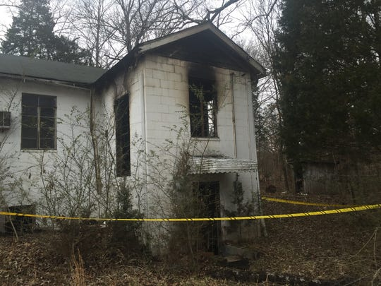 A rear portion of St. Paul United Methodist Church was  damaged by fire that started at the back of the building Thursday morning. The blaze is being investigated as arson.