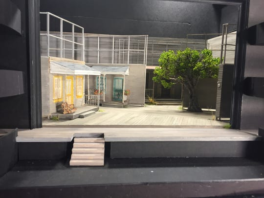 "The model for Takeshi Kata's set design for UD REP's production of ""To Kill a Mockingbird"" is about the size of a toaster oven."