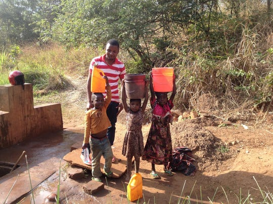 A new well in Tanzania, built with contributions from