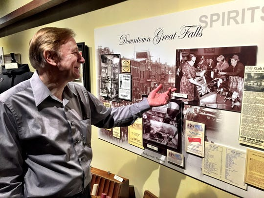 History Museum Director Jim Meinert says the museum's new exhibit on the downtown's earlier days gives a glimpse of ordinary folks working and playing