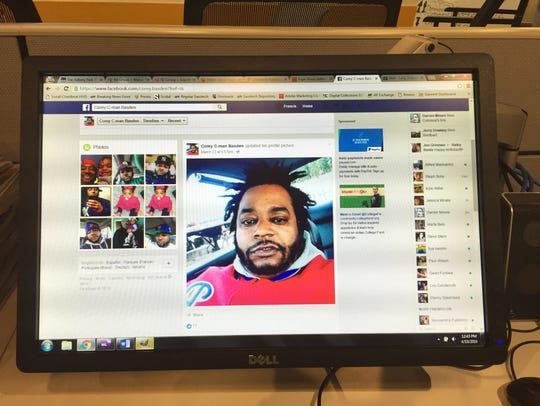 This photo, taken at the Asbury Park Press, shows Corey