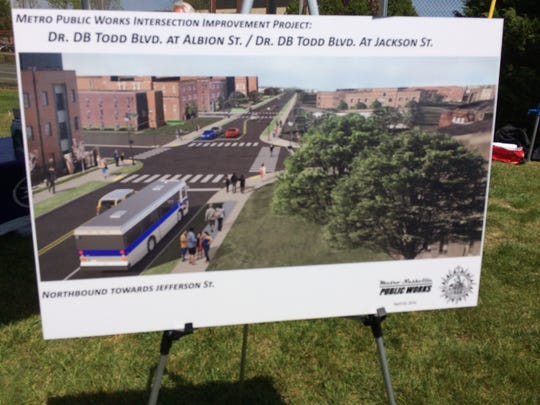 Rendering of proposed improvements to Dr. DB Todd Blvd at Albion and Jackson Streets