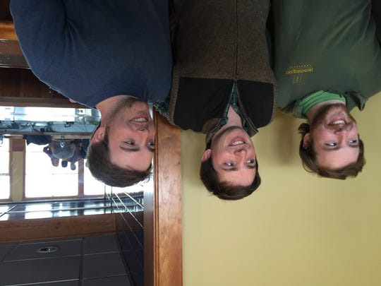 Griffen, John, and Ryan Fox (left to right) are University of Vermont seniors who raised more money than students at any other school in the country for the fight against Alzheimer's disease.