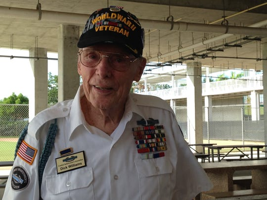 World War II veteran Dick Williams attended the event.