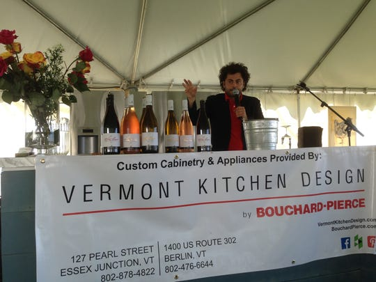 Alberto Graci, a vintner from Italy, gives a presentation Saturday at the Burlington Wine and Food Festival.