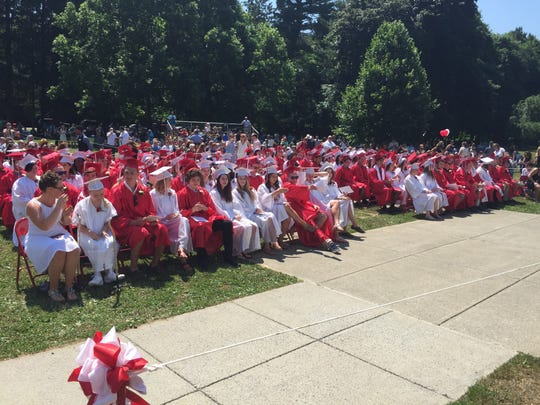 Red Hook High School celebrated its commencement ceremony Saturday morning