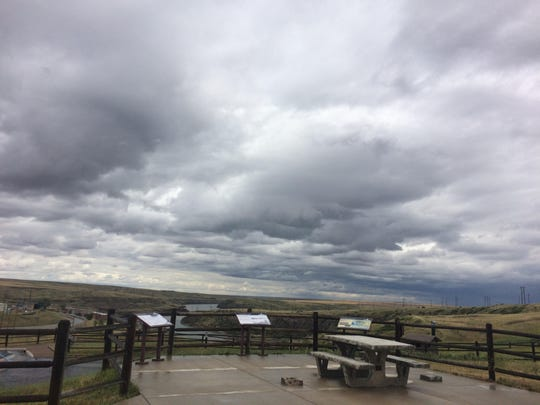 The pavilion at the Lewis and Clark Lookout in Giant Springs State Park was destroyed by vandals at the end of June.