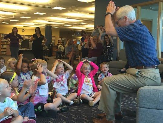 Darryl Stevens has the Bright Beginnings preschoolers