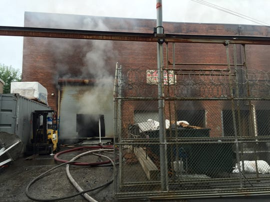 Fire rages inside this party supply warehouse on South