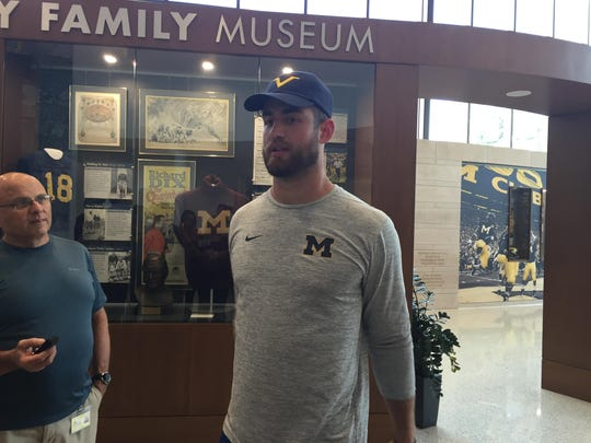 Michigan Wolverines tight end Ian Bunting.