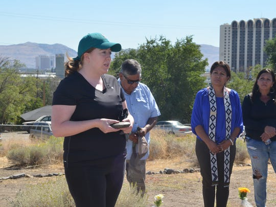 Jennifer Richards, a sixth generation Nevadan and volunteer, said she had several family members buried in the cemetery.