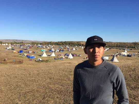 Ray Yazzie of Browning has been camped for two months near the construction site of the Dakota Access Pipeline and is hoping to help stop the project along with thousands of other Native Americans from across Indian Country.