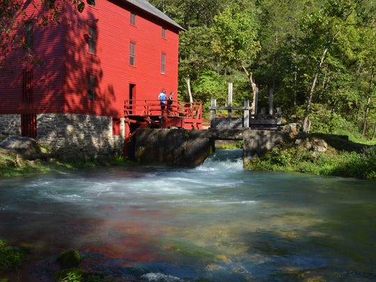 The Alley Spring Mill is one of the most photographed