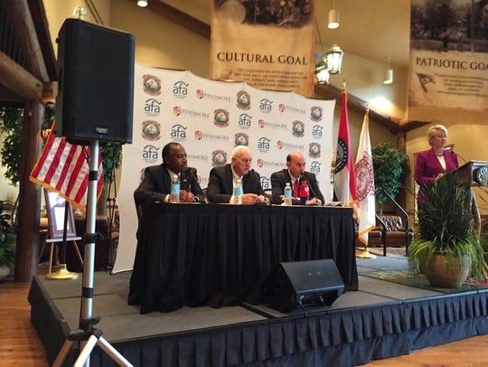 From left, Ben Carson, retired Lt. Gen. William Boykin