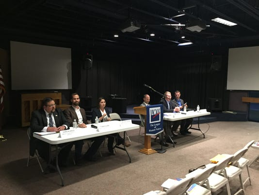 Candidates before Nov. 3 forum