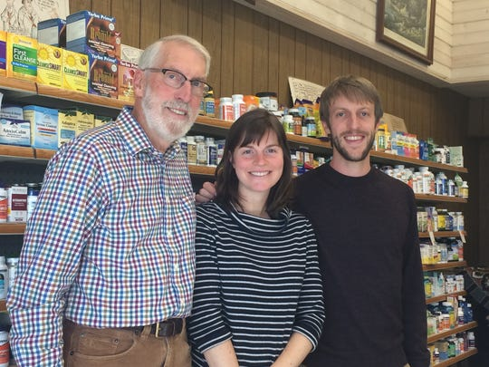 Michael, Katrina and Stephen Hittner at Family Natural Foods in Wisconsin Rapids