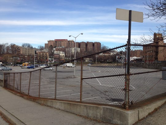 "The sprawling ""Chicken Island"" parking lot off Nepperhan Avenue in downtown Yonkers."