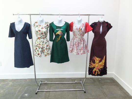 Birdbrain dress samples.