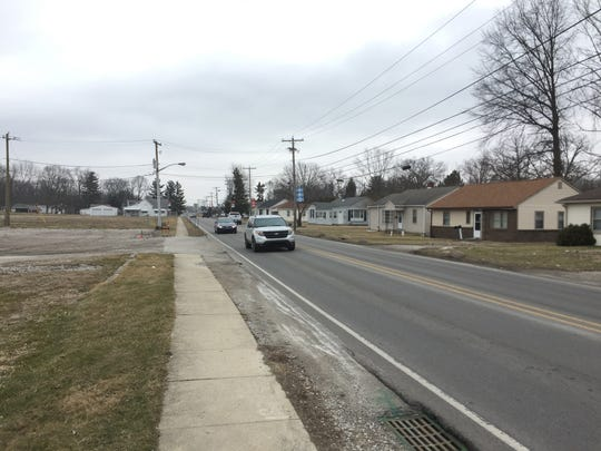 A section of North Green Street in Brownsburg is set