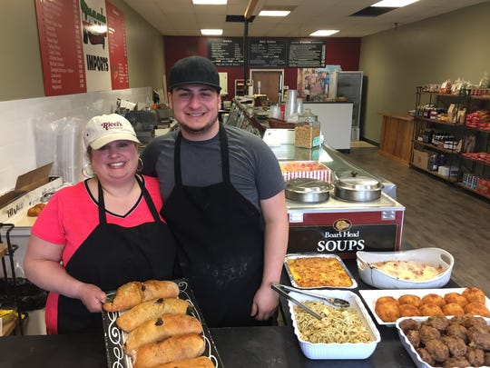Pam Tascione and her son Anthony Cimino of Ricci's Italian Imports in Greece