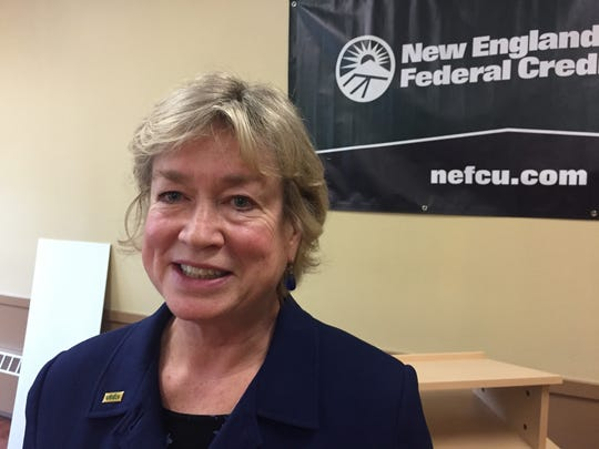 Sarah Carpenter, executive director of Vermont Housing Finance Agency, said a $1 million donation from New England Federal Credit Union will kick start many affordable housing projects.