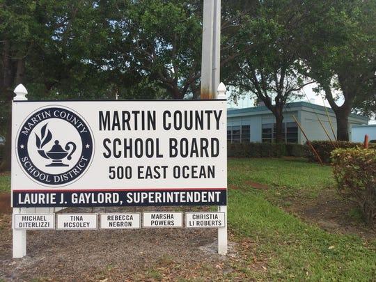 The Martin County School Board office in Stuart.