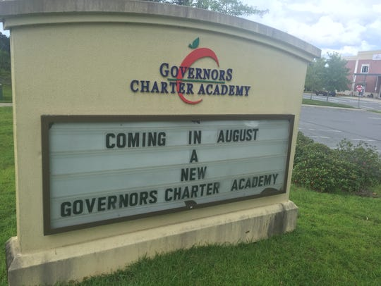 The Governor's Charter sign over the summer promised