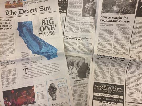 A Desert Sun reader finds the redesigned newspaper